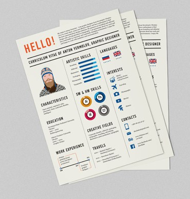 Graphic designer resume example.